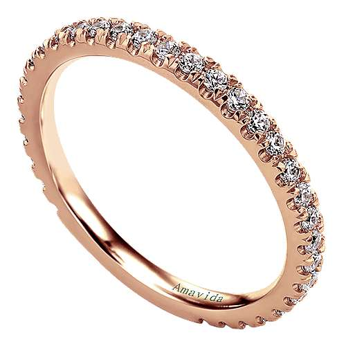 18k Rose Gold Wedding Band angle 3