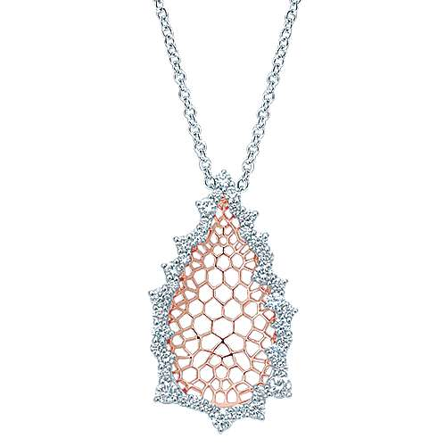 Gabriel - 18k White And Rose Gold Allure Fashion Necklace
