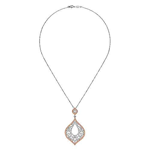 18k White And Rose Gold Mediterranean Fashion Necklace angle 2