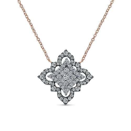 Gabriel - 18k White And Rose Gold Mediterranean Fashion Necklace