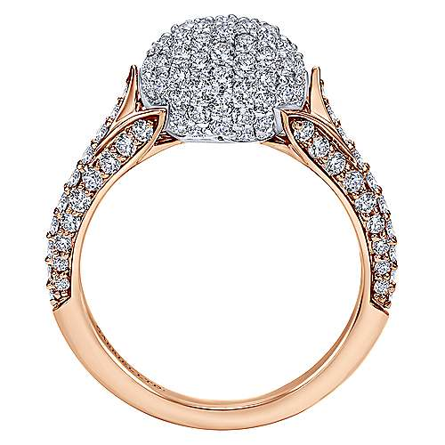 18k White And Rose Gold Silk Fashion Ladies' Ring angle 2