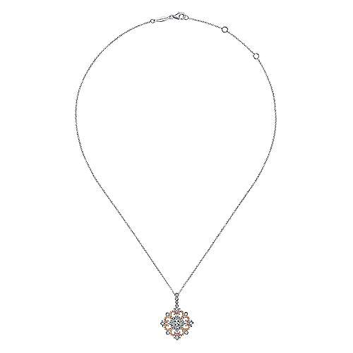 18k White And Rose Gold Victorian Fashion Necklace angle 2