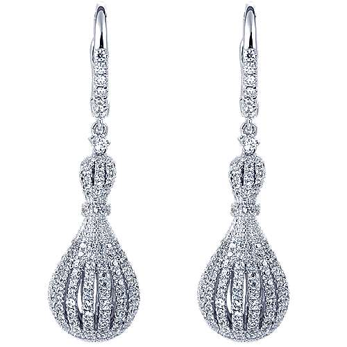 Gabriel - 18k White Gold Allure Drop Earrings