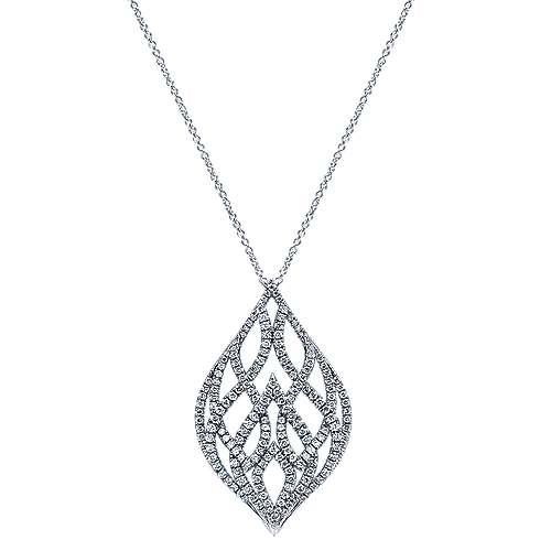 18k White Gold Allure Fashion Necklace angle 1