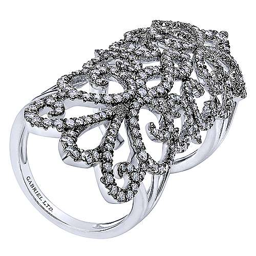 18k White Gold Allure Statement Ladies' Ring angle 3
