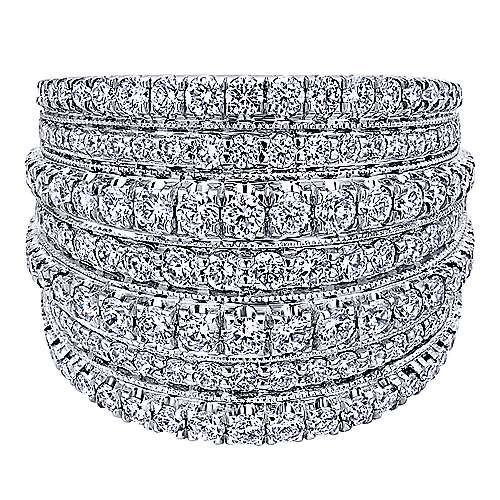 Gabriel - 18k White Gold Allure Wide Band Ladies' Ring