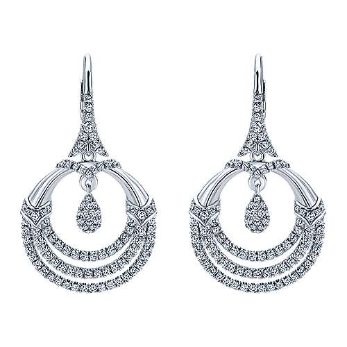 18k White Gold Amavida Fashion Drop Earrings angle 1