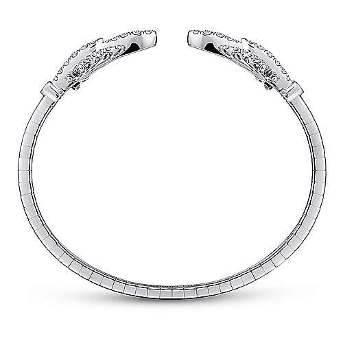 18k White Gold Art Moderne Bangle angle 3