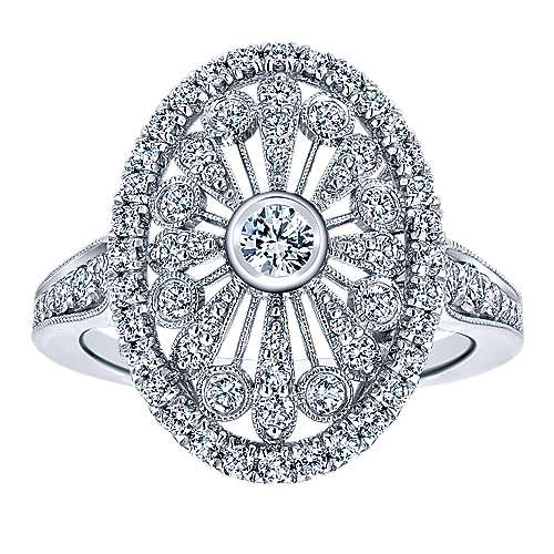 18k White Gold Art Moderne Fashion Ladies' Ring angle 4