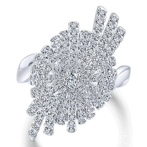 18k White Gold Art Moderne Fashion Ladies' Ring angle 1