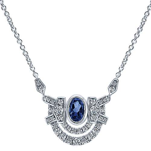 18k White Gold Art Moderne Fashion Necklace angle 1