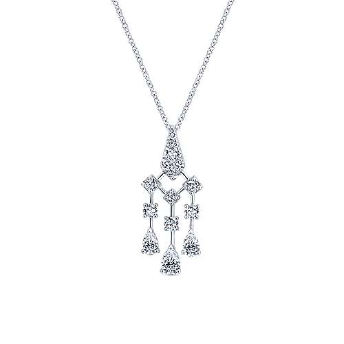 Gabriel - 18k White Gold Art Moderne Fashion Necklace