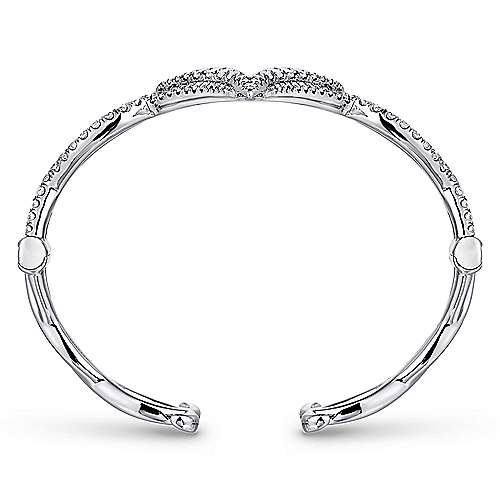 18k White Gold Contemporary Bangle angle 3