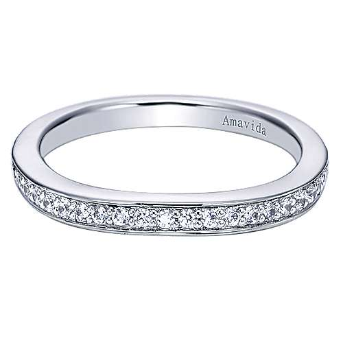 18k White Gold  Curved