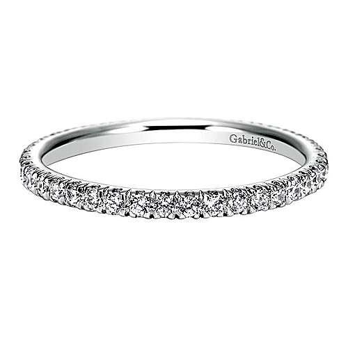 18k White Gold Contemporary Eternity Anniversary Band angle 1