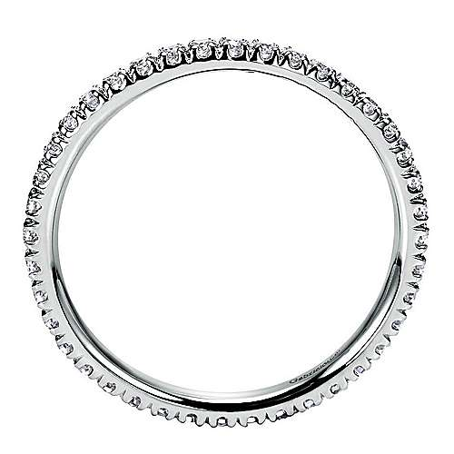 18k White Gold Contemporary Eternity Anniversary Band angle 2