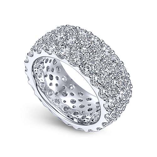 18k White Gold Contemporary Eternity Band Anniversary Band angle 3