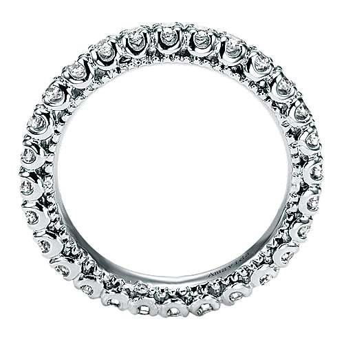 18k White Gold Contemporary Eternity Band Wedding Band angle 2