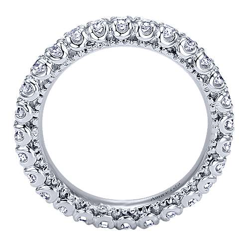 18k White Gold Contemporary Eternity Wedding Band angle 2