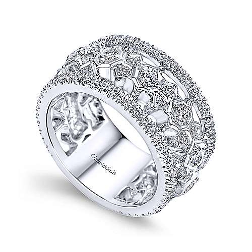18k White Gold Contemporary Fancy Anniversary Band