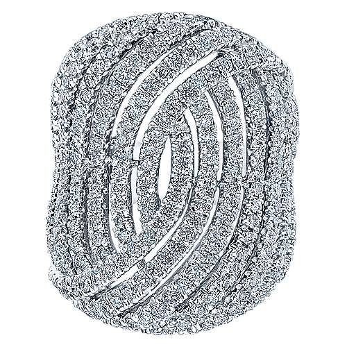 18k White Gold Contemporary Fashion Ladies' Ring angle 4