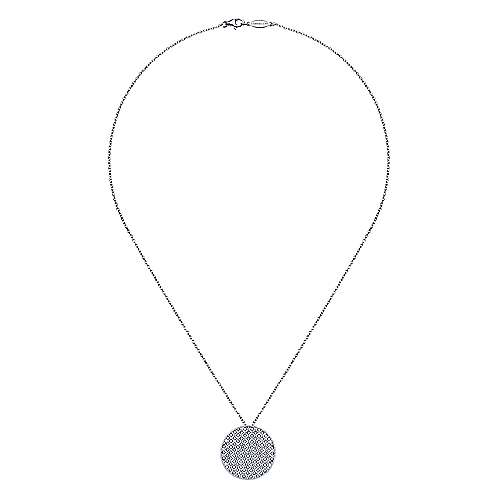 18k White Gold Contemporary Fashion Necklace angle 2