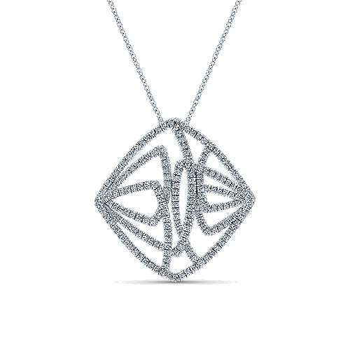 18k White Gold Contemporary Fashion Necklace