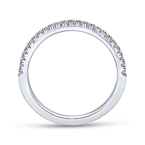 18k White Gold Contemporary Straight Wedding Band angle 2