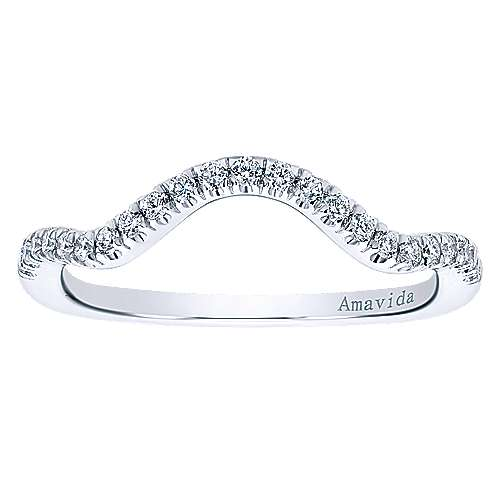 18k White Gold Contemporary Straight Wedding Band