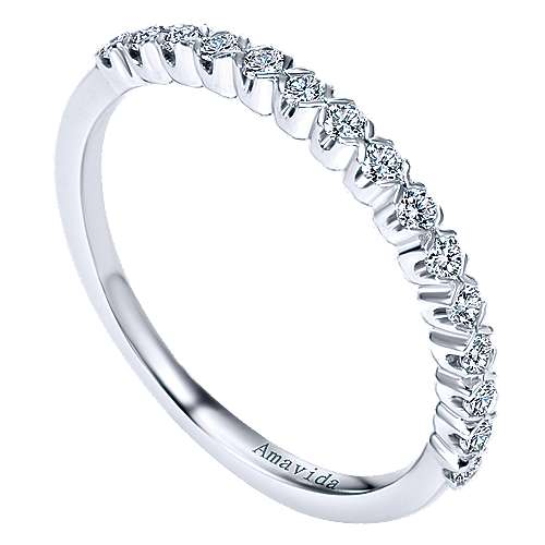 18k White Gold Contemporary Straight Wedding Band angle 3