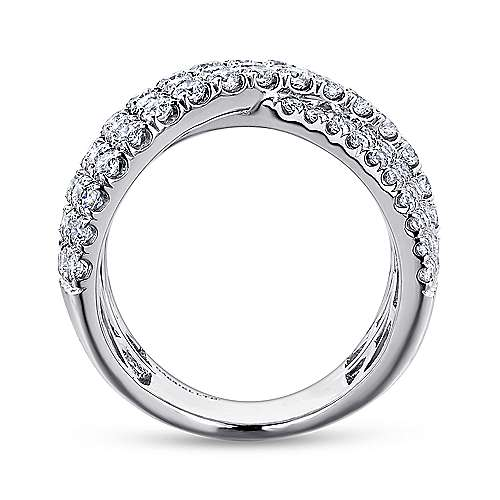 18k White Gold Contemporary Wide_band Ladies' Ring angle 2