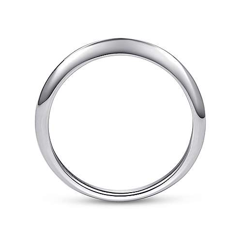 18k White Gold Curved Wedding Band angle 2