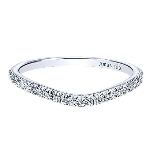 18k White Gold Diamond Curved