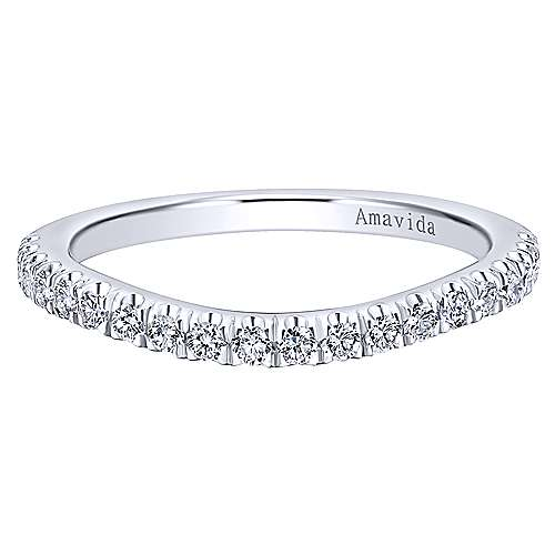 18k White Gold Contemporary Curved
