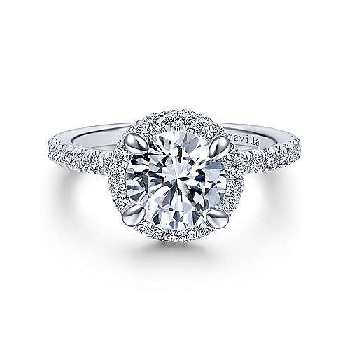 18k White Gold Diamond Double Halo