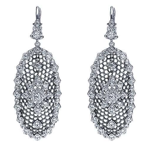 Gabriel - 18k White Gold Mediterranean Drop Earrings