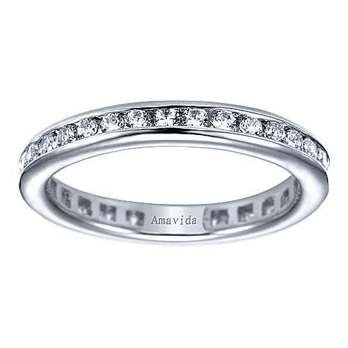 18k White Gold Diamond Eternity Band Wedding Band angle 5