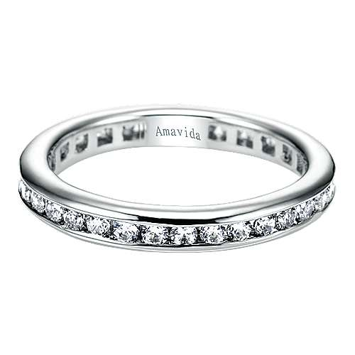 18k White Gold Contemporary Eternity Band