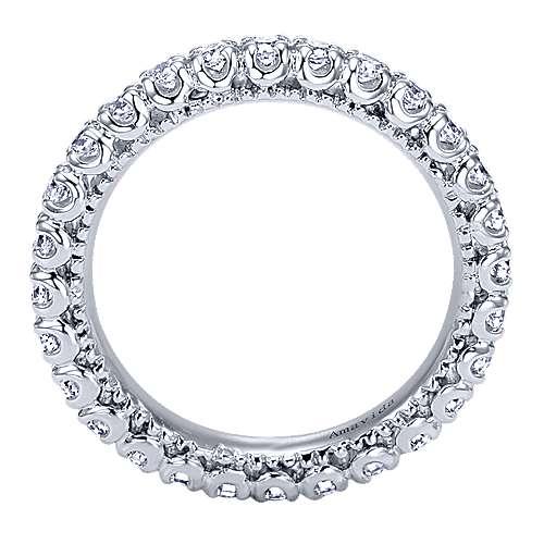 18k White Gold Diamond Eternity Band Wedding Band angle 2