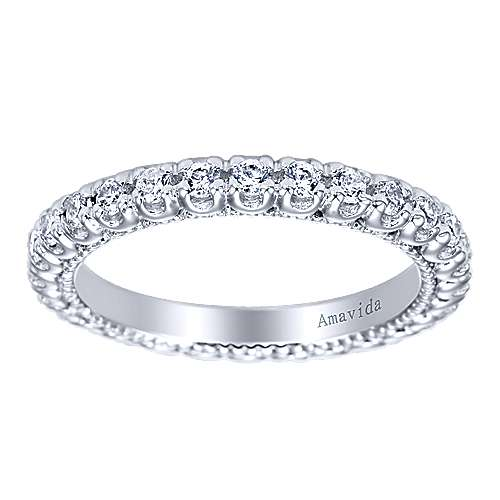 18k White Gold Diamond Eternity Band Wedding Band angle 5