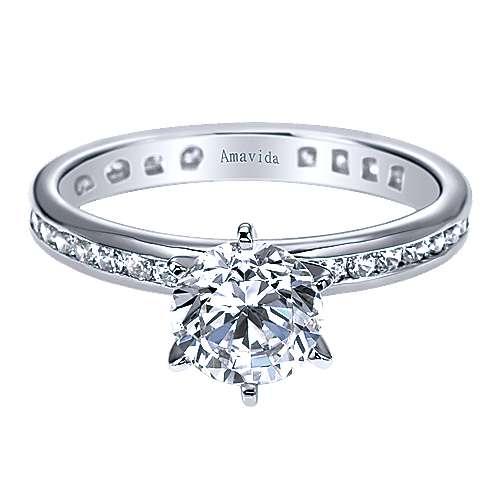 Gabriel - 18k White Gold Round Eternity Engagement Ring