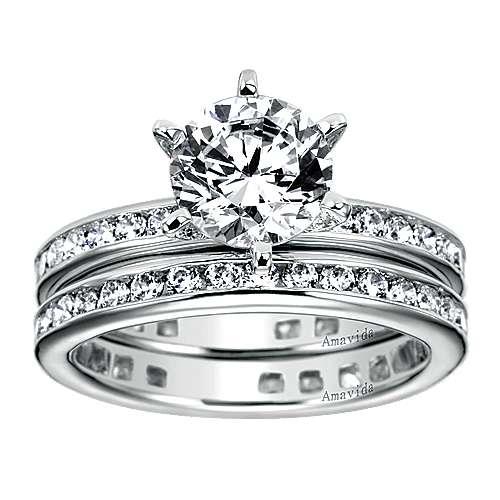 18k White Gold Diamond Eternity Wedding Band angle 4