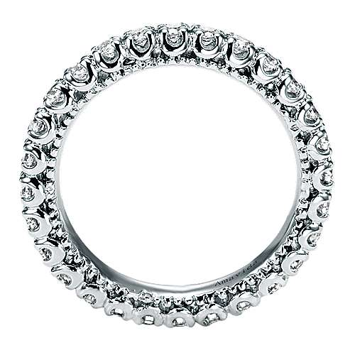 18k White Gold Diamond Eternity Wedding Band angle 2