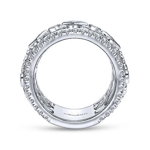 18k White Gold Diamond Fancy Anniversary Band angle 2