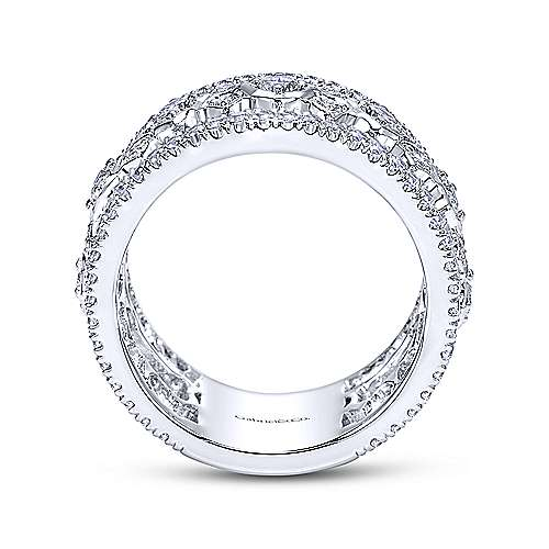 18k White Gold Diamond Fancy Anniversary Band angle 2