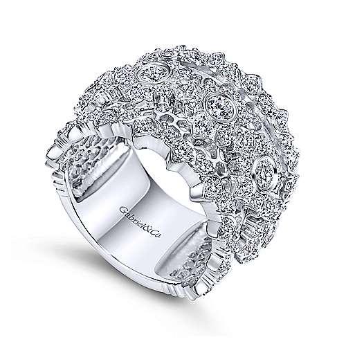 18k White Gold Diamond Fancy Anniversary Band angle 3