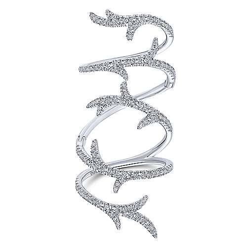 18k White Gold Diamond Fashion Ladies