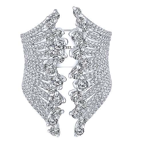 18k White Gold Waterfall Fashion