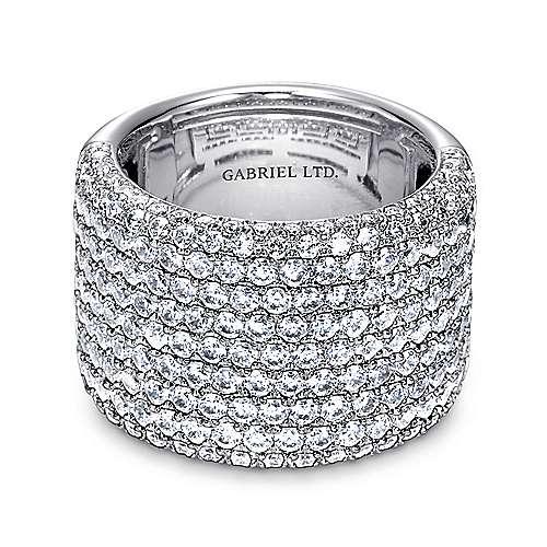 Gabriel - 18k White Gold Silk Fashion Ladies' Ring