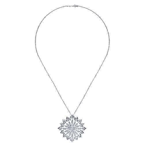 18k White Gold Diamond Fashion Necklace angle 2